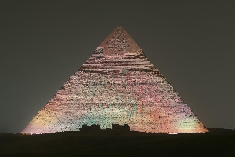 Pyramid av Khafre i Kairo, Egypten arkivbild