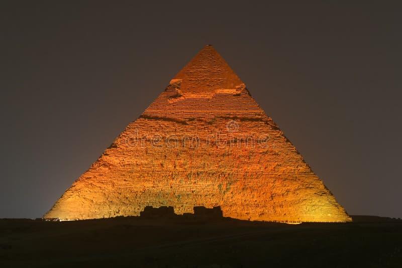 Pyramid av Khafre i Kairo, Egypten royaltyfria foton