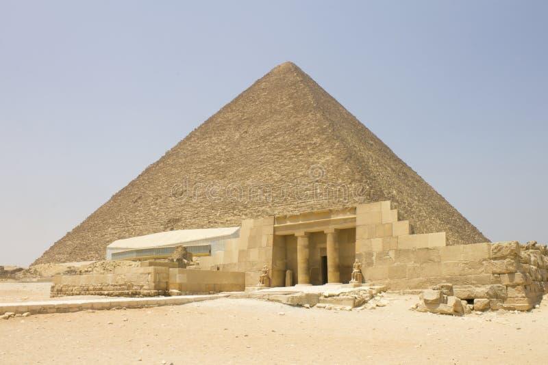 Pyramid av Khufu arkivfoto