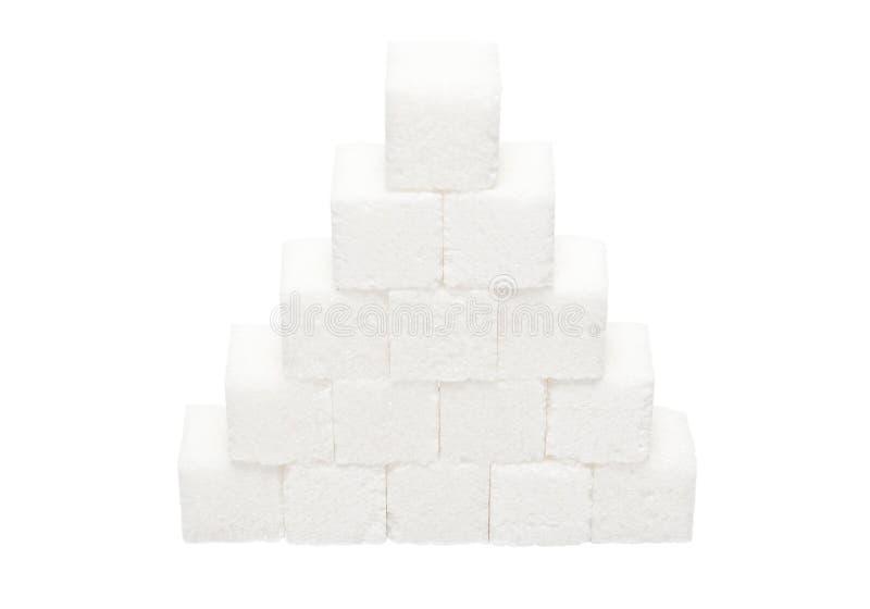 Pyramid av klimpigt socker royaltyfri bild