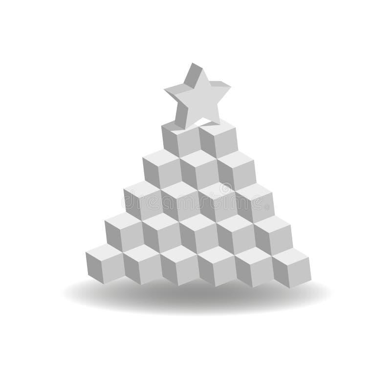 Pyramid av kuber arkivfoton