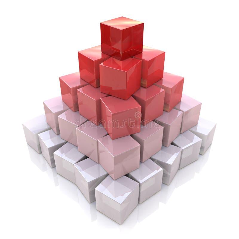 Pyramid av kuber vektor illustrationer