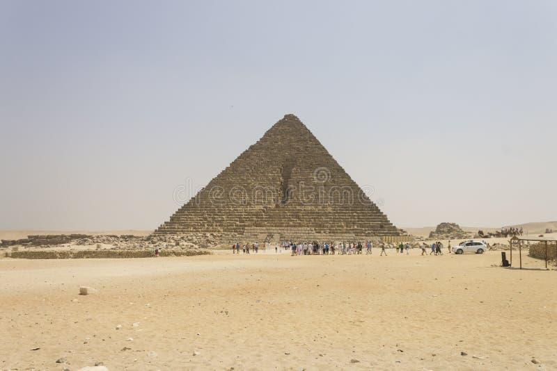 Pyramid av Menkaure royaltyfri fotografi