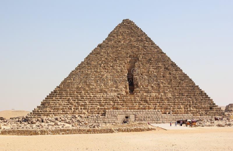 Pyramid av Menkaure, Giza, Cairo, Egypten. royaltyfria foton