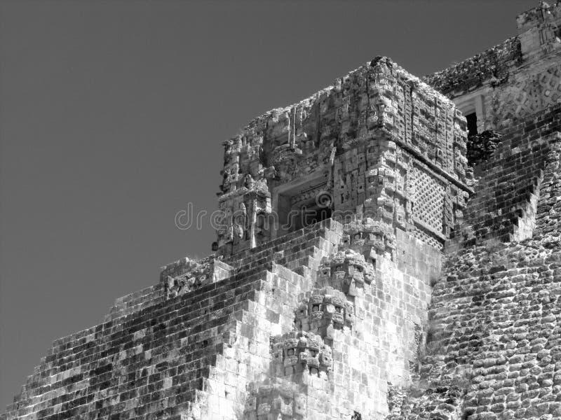 Pyramid av trollkarlarna Uxmal fotografering för bildbyråer