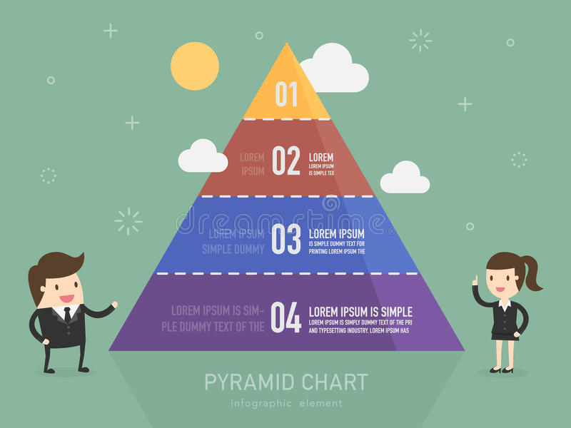 Pyramid chart vector illustration