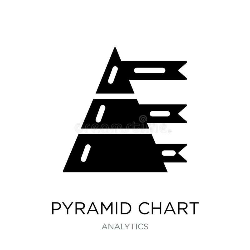 pyramid chart icon in trendy design style. pyramid chart icon isolated on white background. pyramid chart vector icon simple and vector illustration