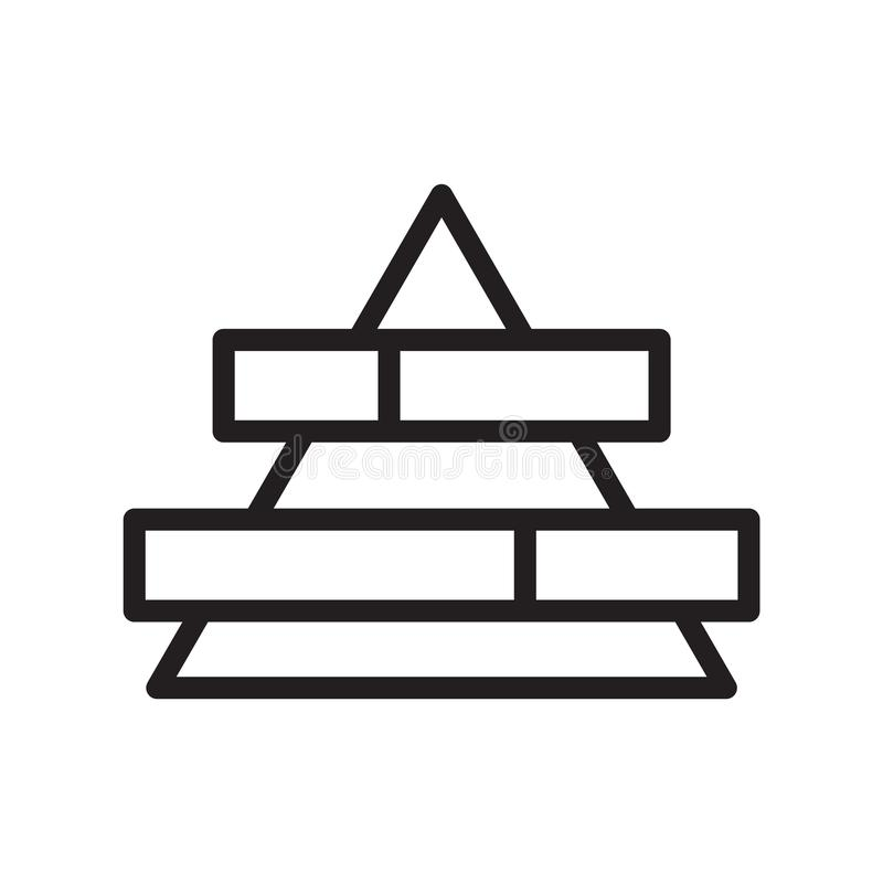 Pyramid chart icon vector isolated on white background, Pyramid chart sign , line symbol or linear element design in outline style vector illustration