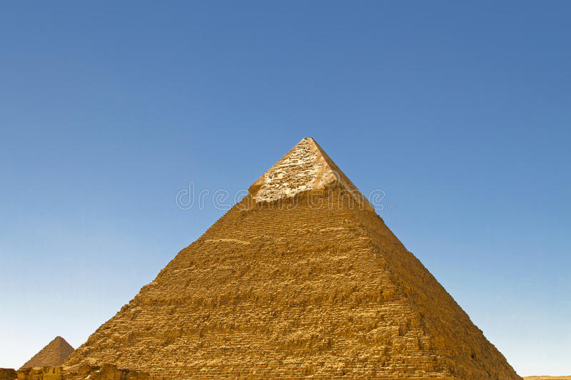 Pyramid of Chefren. At Sunny Day in Giza Egypt royalty free stock photos