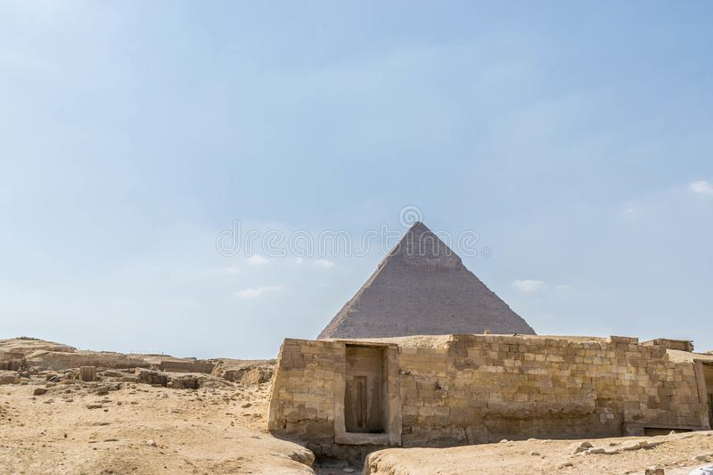 The Pyramid of Chephren in Giza royalty free stock image