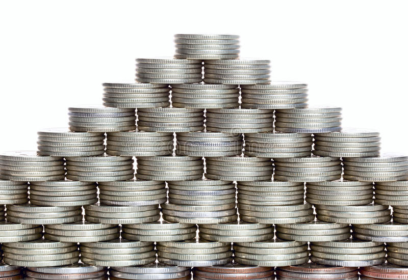 Pyramid Of The Coins Stock Images