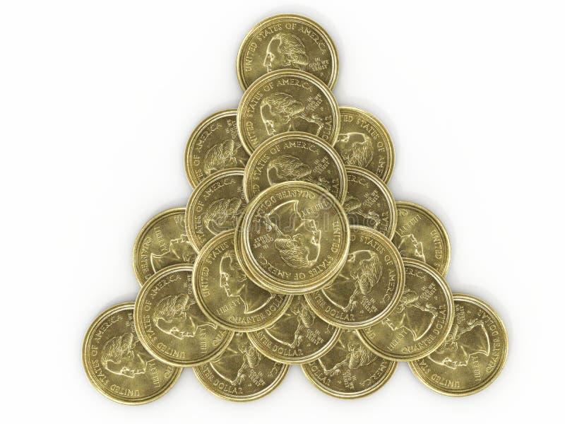 Pyramid of coins royalty free stock photos