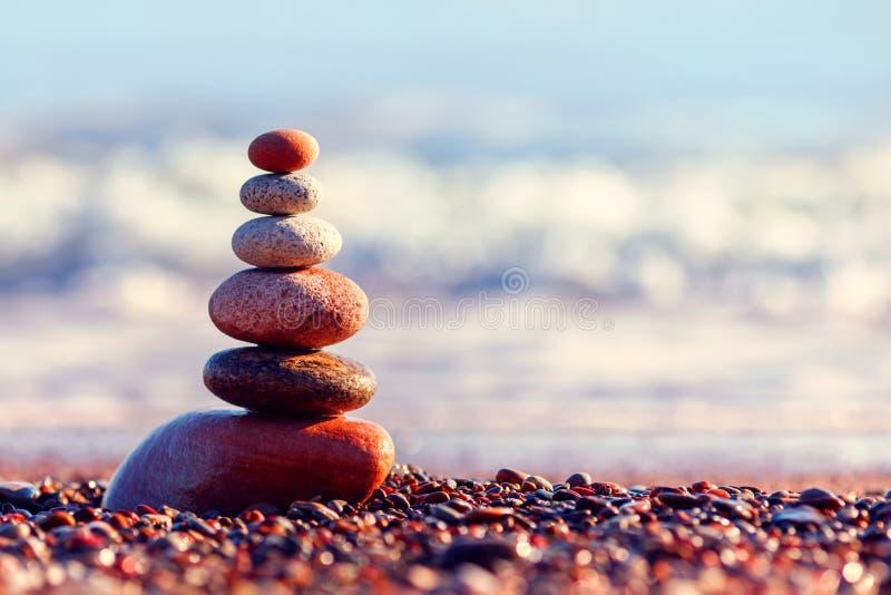 Concept of harmony and balance. Evening calm stock photos