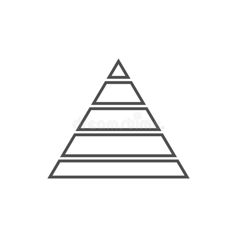 pyramid diagram icon. Element of cyber security for mobile concept and web apps icon. Thin line icon for website design and stock illustration