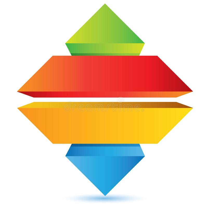 Four Layer Pyramid Diagram Template Stock Vector ...