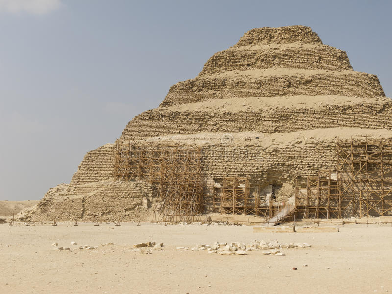 Download Pyramid of Djoser stock photo. Image of east, egyptian - 18125096