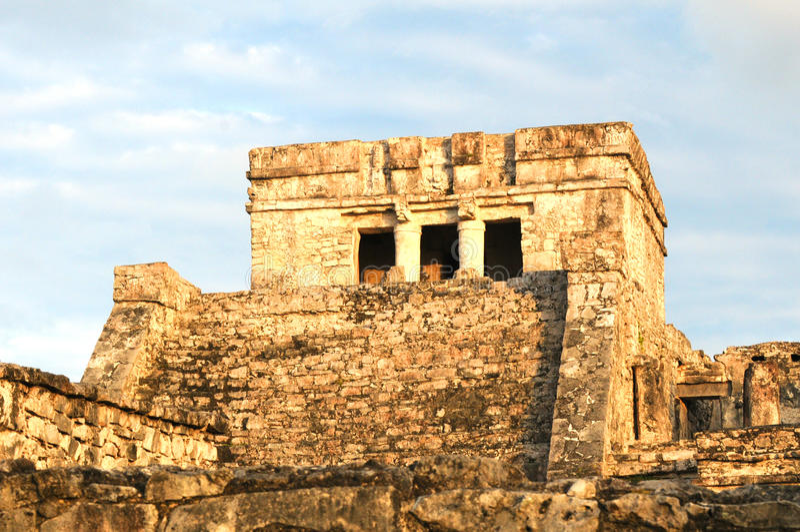 Pyramid El Castillo Or The Castle In Mexico Royalty Free Stock Photography