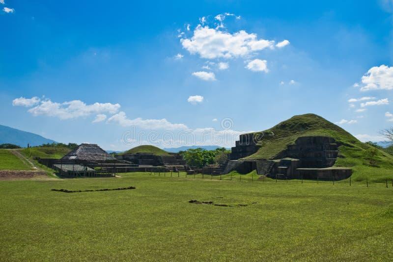 Pyramid El Salvador royalty free stock photo