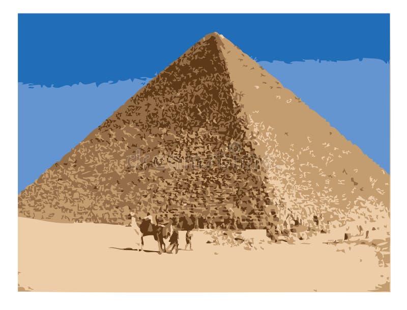 Pyramid/EPS. The Egypt pyramid at Giza stock illustration