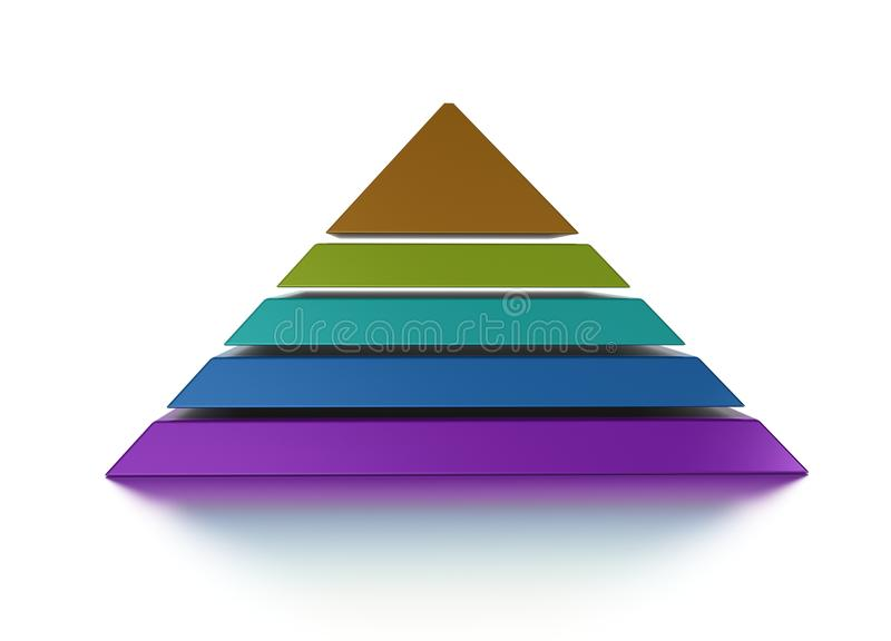 pyramid för diagram 3d vektor illustrationer