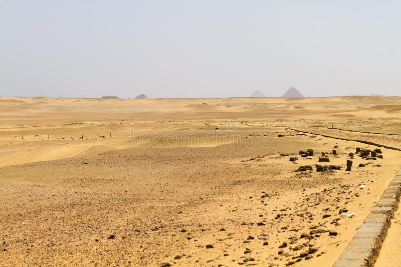 Download Pyramid field at Saqqara stock image. Image of extreme - 37477659