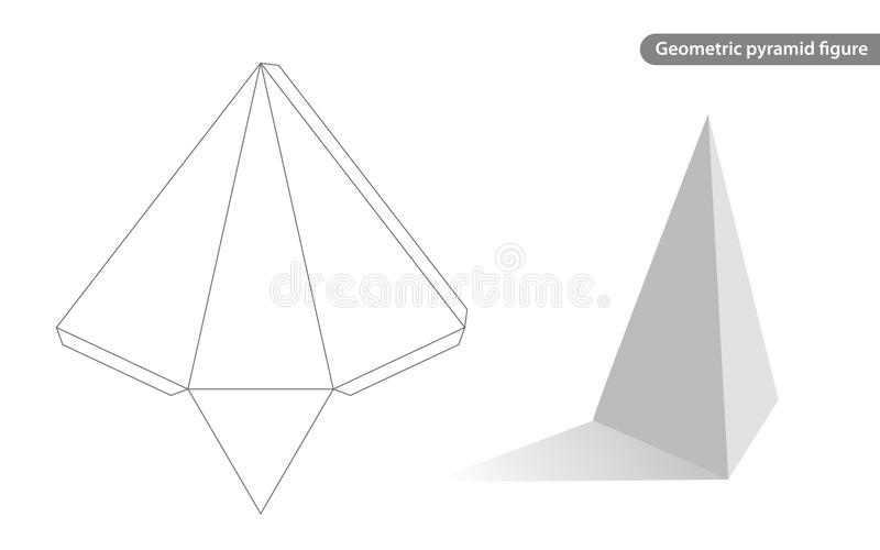 Download Pyramid geometric stock vector. Illustration of blank - 27270834