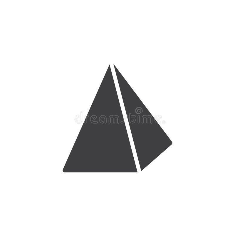 Pyramid geometrical figure vector icon. Filled flat sign for mobile concept and web design. Pyramid geometric shape simple solid icon. Symbol, logo vector illustration