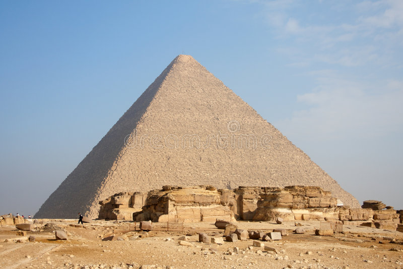 Pyramid in Giza. Great pyramid in Giza, near of Cairo, capital of Egypt stock photography