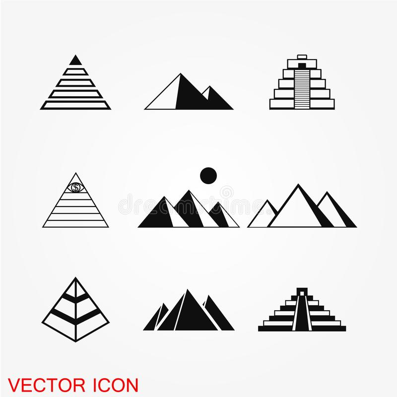 Pyramid icon vector royalty free illustration