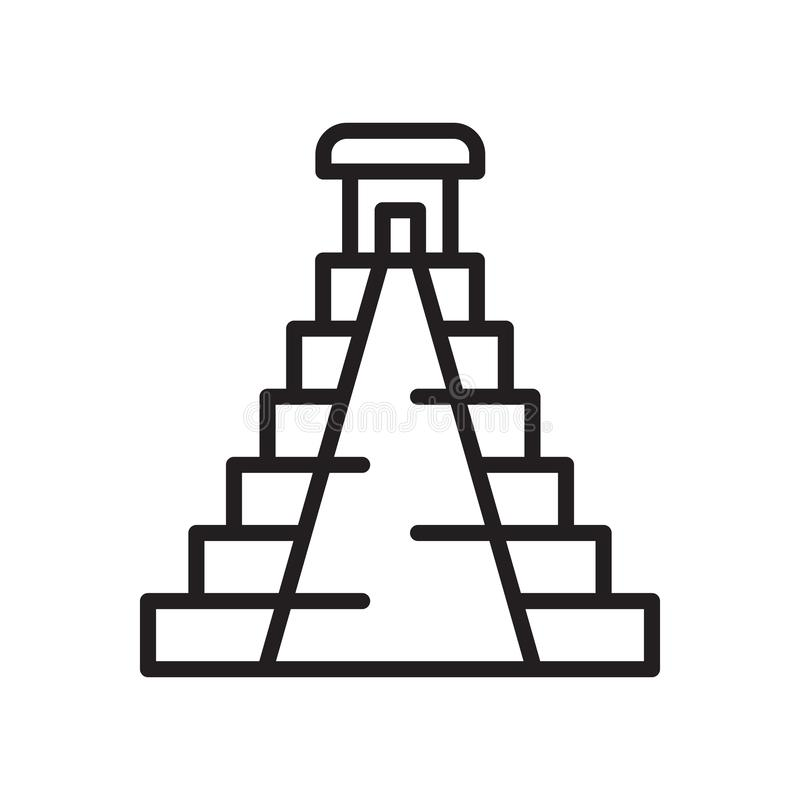 Pyramid icon vector sign and symbol isolated on white background vector illustration