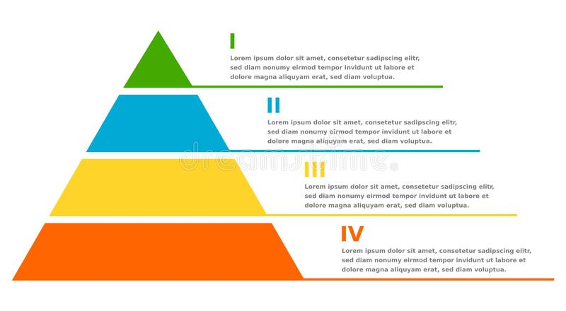 Pyramid infographic chart. Business design royalty free stock photos