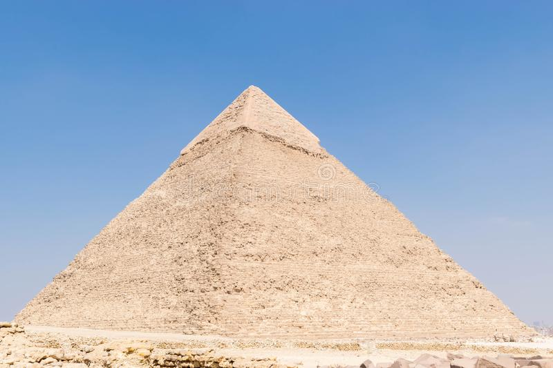 The Pyramid of Khafre or of Chephren royalty free stock photo