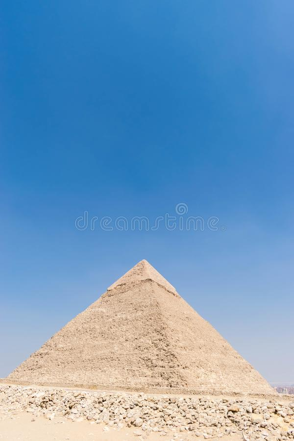 The Pyramid of Khafre in Egypt stock photography