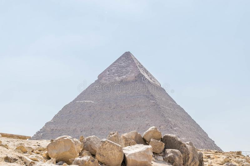 The Pyramid of Khafre in Giza royalty free stock image