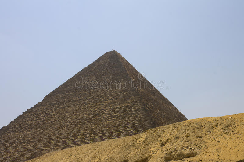 Pyramid of Khufu (Cheops). The Great Pyramid of Giza (also known as the Pyramid of Khufu or the Pyramid of Cheops), Cairo, Egypt royalty free stock image