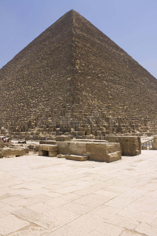 Pyramid of Khufu (Cheops). The Great Pyramid of Giza (also known as the Pyramid of Khufu or the Pyramid of Cheops), Cairo, Egypt stock images