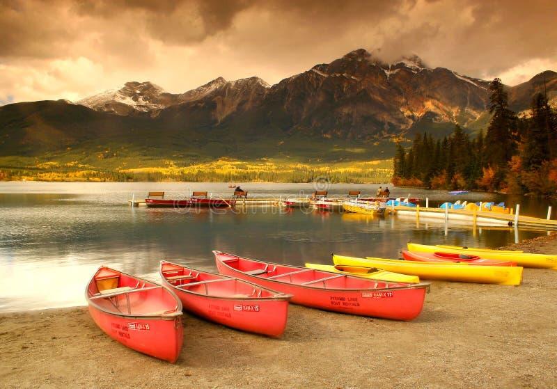 Pyramid lake stock images