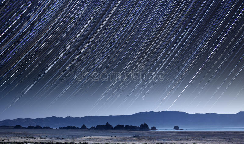 Pyramid Lake Star Trails