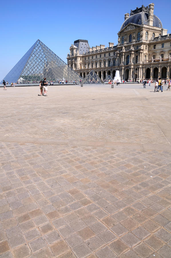Download Pyramid in Louvre editorial stock photo. Image of formation - 11567583