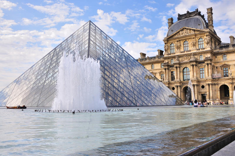 Pyramid Of The Louvre - Paris Editorial Photography
