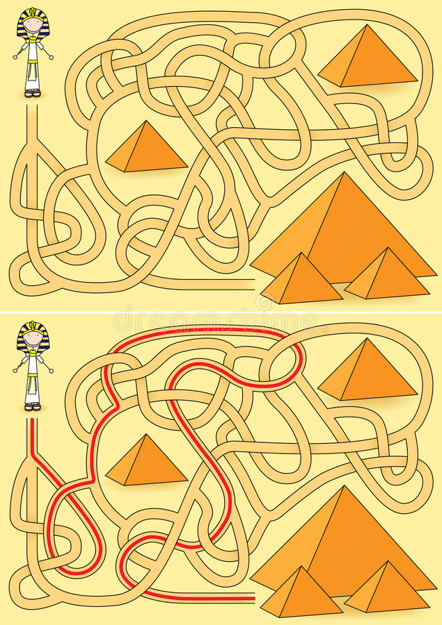 Download Pyramid Maze Stock Photo - Image: 29696690