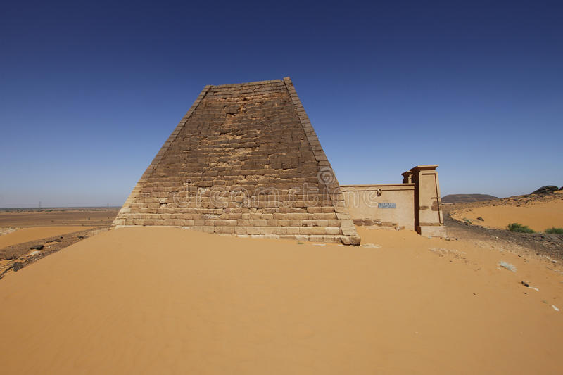 Pyramid at Meroe, Sudan stock image