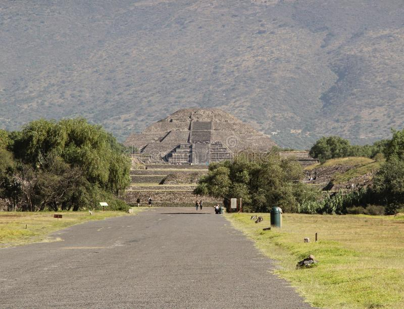 Pyramid of Moon in Teotihuacan, Mexico City stock photography