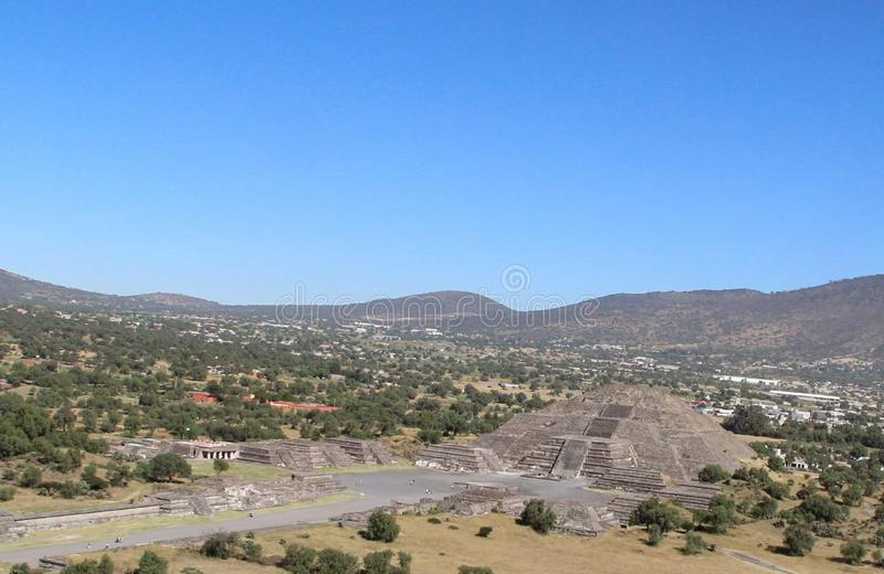 Pyramid of Moon in Teotihuacan, Mexico City royalty free stock images