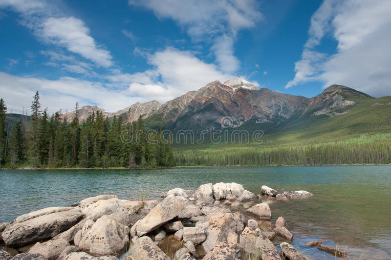 Pyramid Mountain and Lake royalty free stock photography
