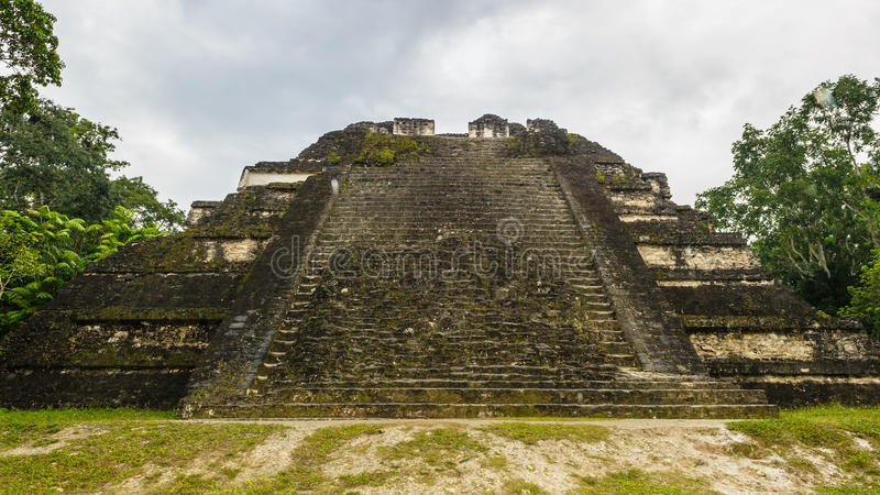 Pyramid of Mundo Perdido. The Lost World Pyramid (Structure 5C-54), Mundo Perdido, Guatemala royalty free stock images