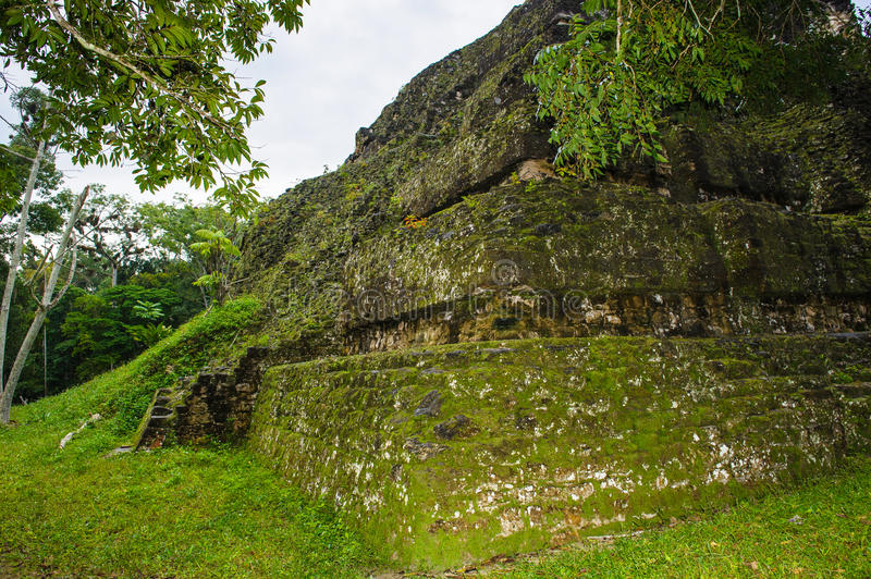 Pyramid of Mundo Perdido. Part of Mayan city of Tikal, Mundo Perdido, Guatemala stock images