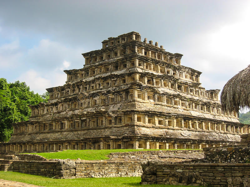 Pyramid of the Niches in El Tajin, Mexico. Pyramid of the Niches in Pre-Hispanic city of El Tajin, UNESCO World Heritage Site stock images