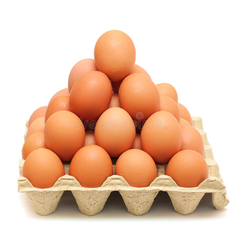 Free Pyramid Of Brown Eggs Stock Images - 14783144