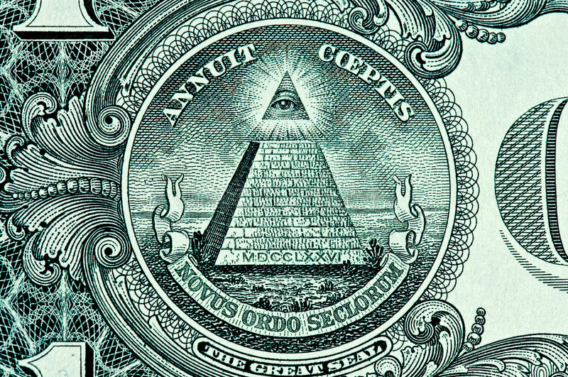 Download Pyramid on One Dollar Bill stock photo. Image of seal - 6407528